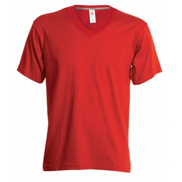 TEE-SHIRT COL V MANCHES COURTES FEMME