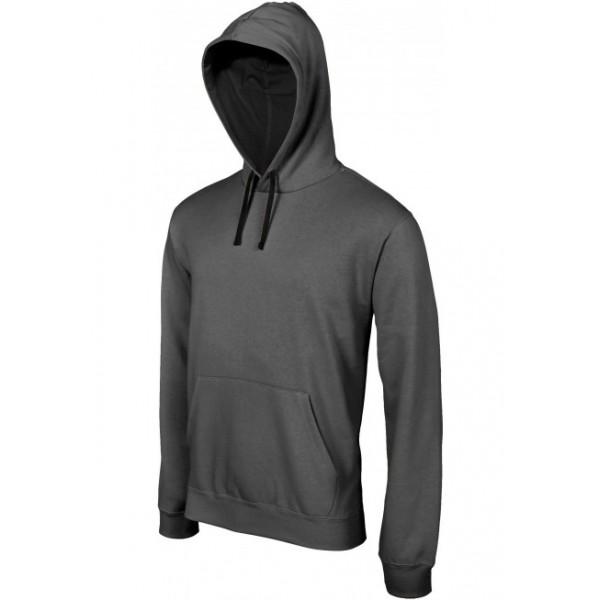 sweat shirt capuche contrast e homme la mode du sport. Black Bedroom Furniture Sets. Home Design Ideas