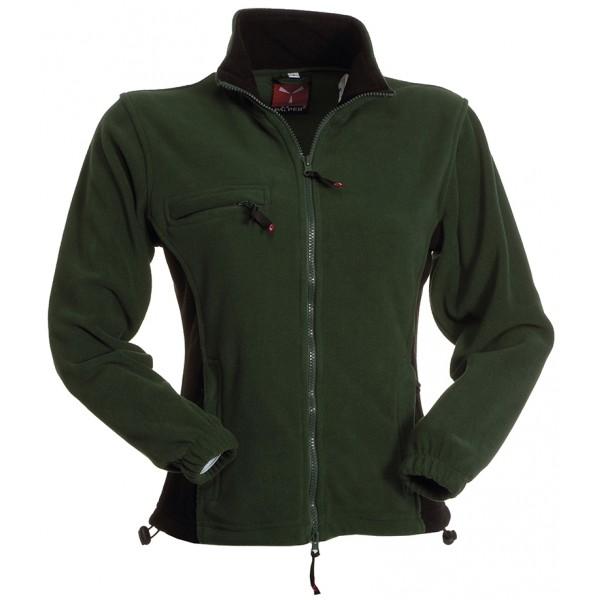 veste fibre polaire contrastee avec zip femme la mode du sport. Black Bedroom Furniture Sets. Home Design Ideas